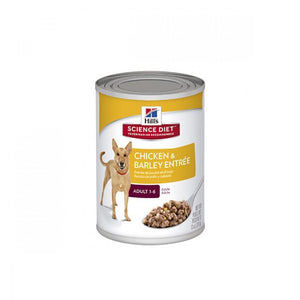 Hill's Science Diet Adult Chicken & Barley Entrée lata perro