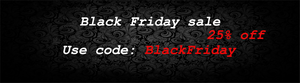 Black Friday Sale (25%) off