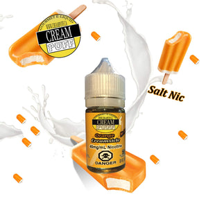 Orange Creamsicle, Salt Nicotine, Creampuff eliquid, orange ejuice, best salt nicotine ejuices