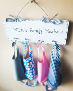Face Mask Holder Organiser Hooks Personalised