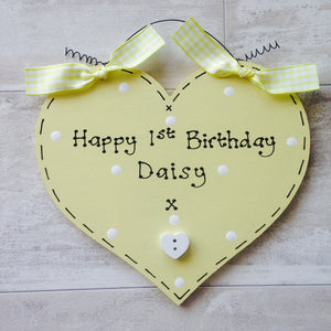 Birthday heart ~ personalised