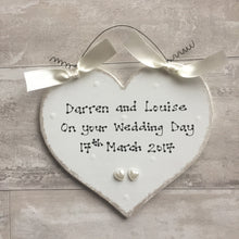 Load image into Gallery viewer, Wedding heart sign personalised