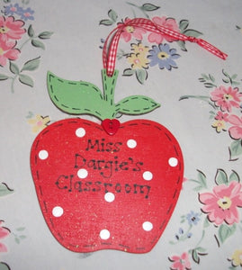 Teacher personalised thank you apple sign