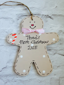 Gingerbread Person Baby's 1st Christmas sign