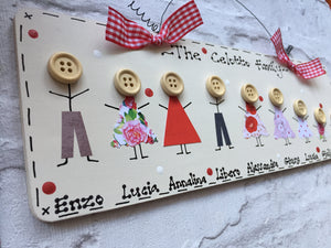 Stick people personalised sign