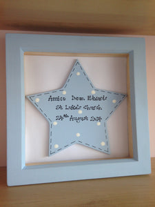 New baby or Christening sign in frame