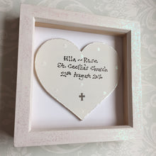 Load image into Gallery viewer, New baby or Christening sign in frame