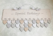Load image into Gallery viewer, Birthday and Special Occasion Friends and Family Calendar Date Board with tokens