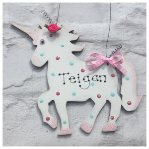 Unicorn room plaque sign