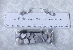 Birthday Calendar Date Board with tokens