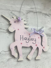 Load image into Gallery viewer, Unicorn room plaque sign