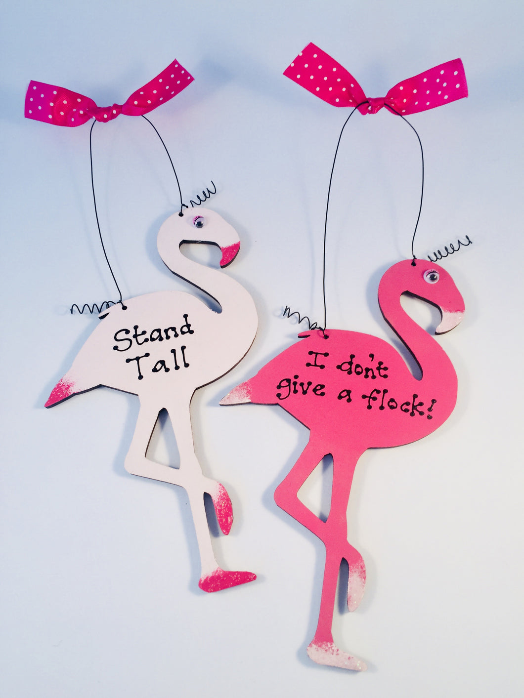 Flamingo quote room sign plaque