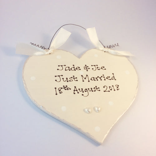 Wedding heart sign personalised