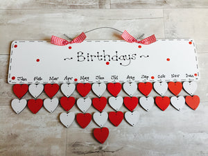 Birthday and Special Occasion Friends and Family Calendar Date Board with tokens