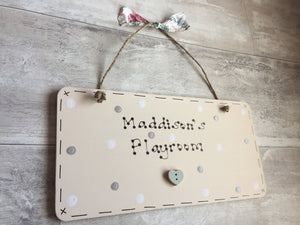 Playroom Playhouse sign