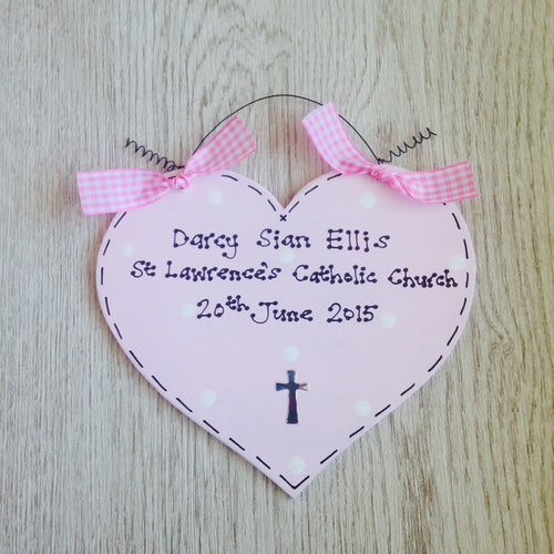 Christening heart sign