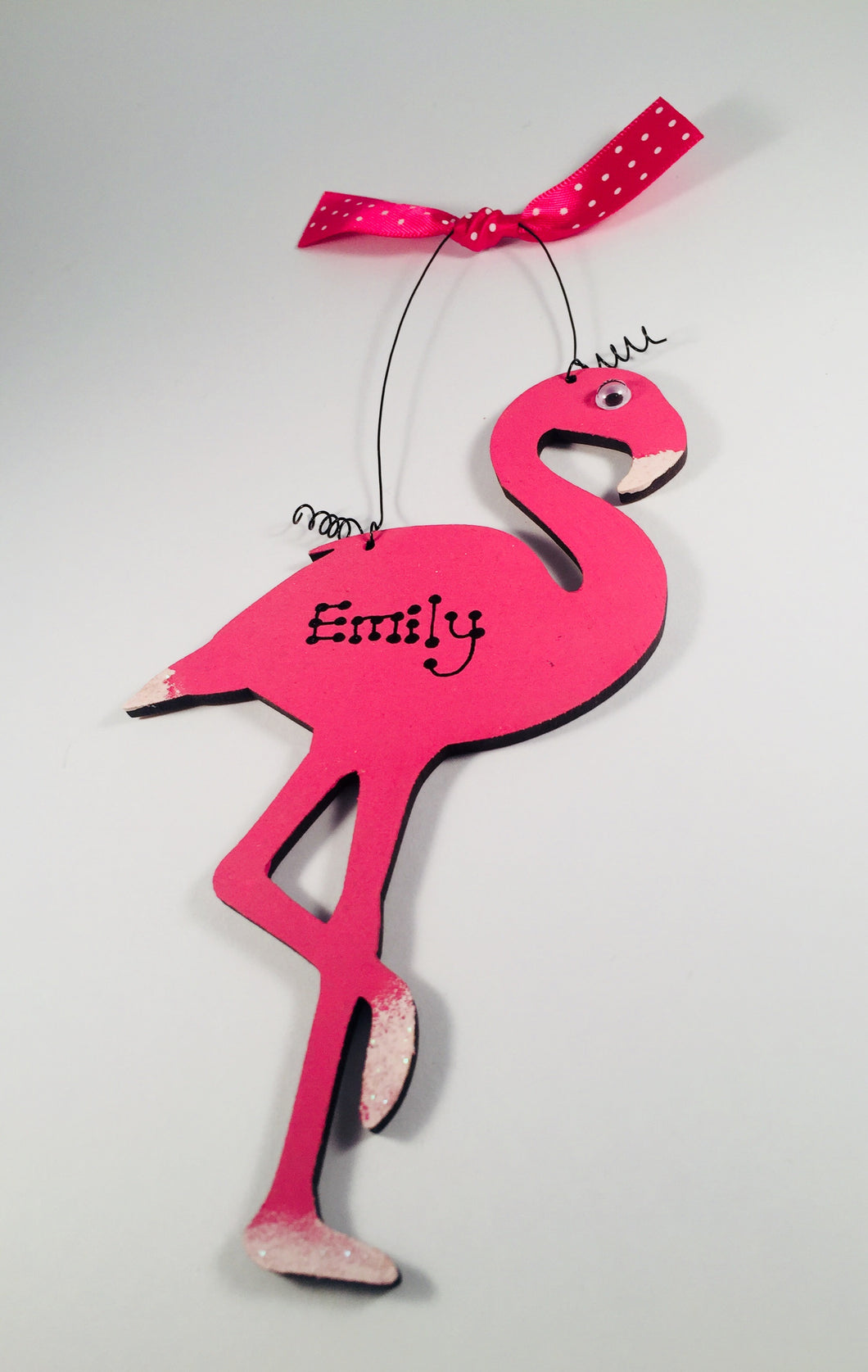 Flamingo personalised room sign plaque