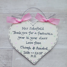 Load image into Gallery viewer, Teacher personalised thank you sign