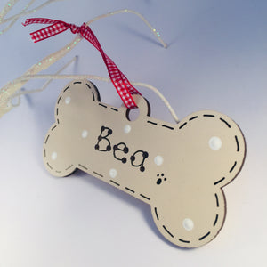 Dog Bone Christmas Tree Decoration