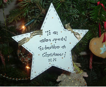 Load image into Gallery viewer, Teacher personalised Christmas star