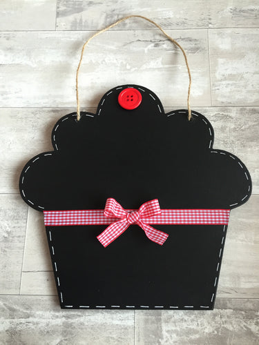 Cupcake shaped chalkboard