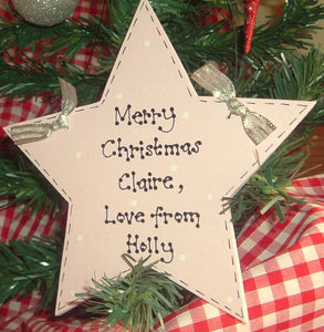 Teacher personalised Christmas star
