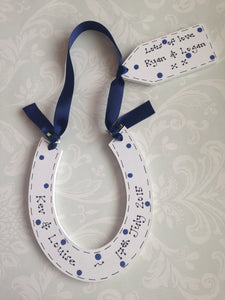 Wedding personalised horseshoe