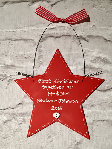 First Christmas Together/New Home Personalised Sign