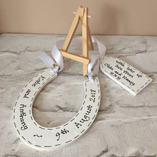 Load image into Gallery viewer, Wedding personalised horseshoe