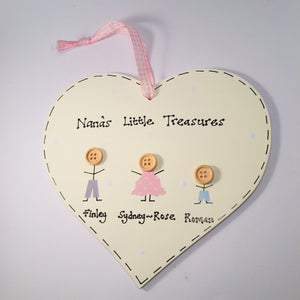 Personalised 'little treasures' heart