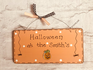 Halloween personalised sign