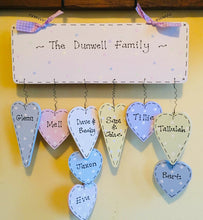 Load image into Gallery viewer, Personalised 'Our Family' dangly sign
