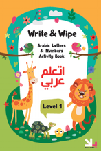 Load image into Gallery viewer, YallaLearn Write and Wipe Animals Book: Level One - YALLAKIDS
