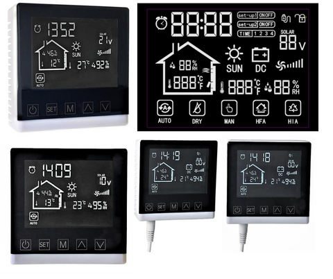 LCD thermostat of solar air heater