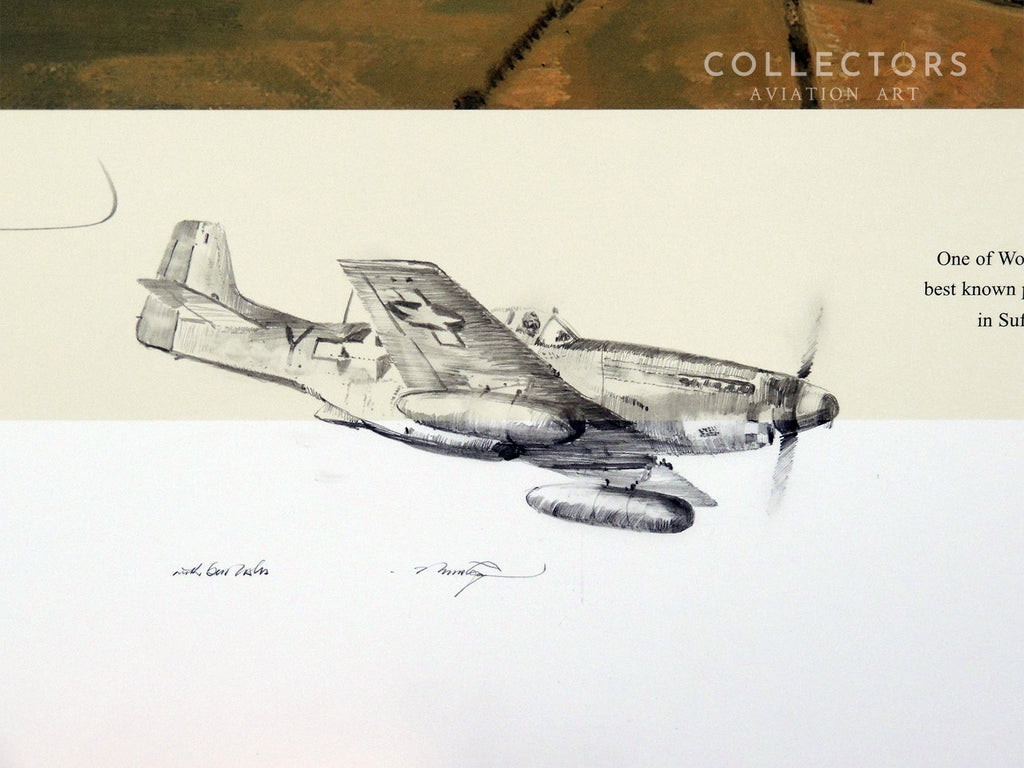 Collectors aviation art American Eagle Remarqued