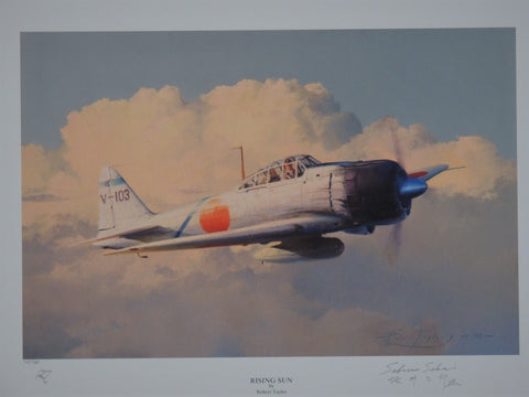 Subaro Sakai Set - Rising Sun print by Robert Taylor and original Subaro Sakai signed letter