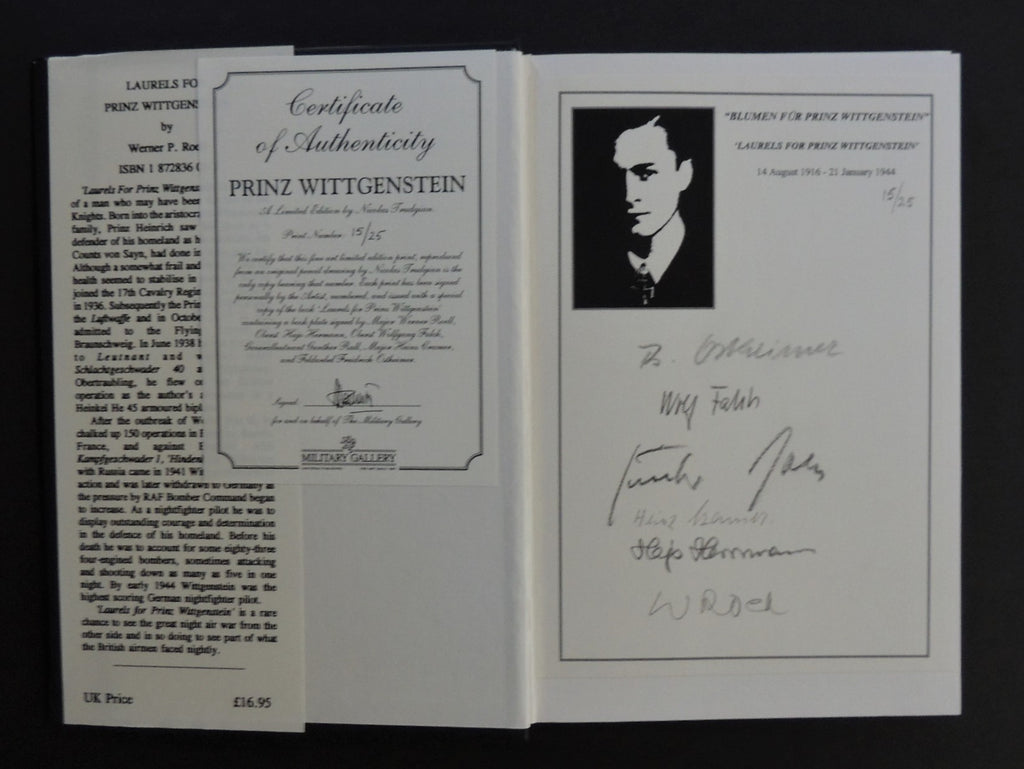 "Laurels for ""Prinz Wittgenstein"" by Nicholas Trudgian book and print set 15/25"