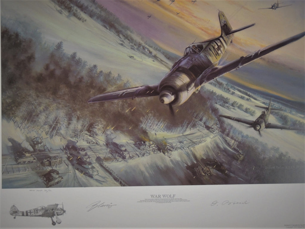 War Wolf by Robert Bailey - remarqued artist proof