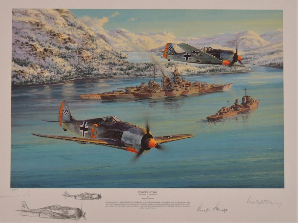 The Kriegsmarine Portfolio by Anthony Saunders - Two print remarqued matching set
