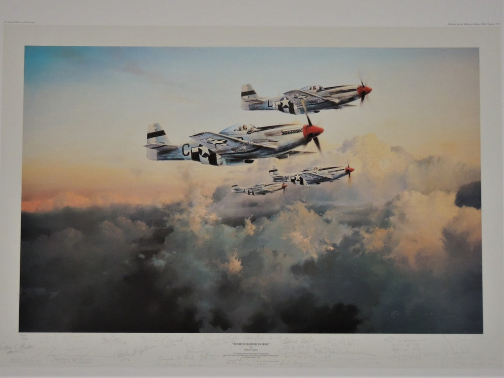 Fourth Fighter Patrol by Robert Taylor - Multi signed print