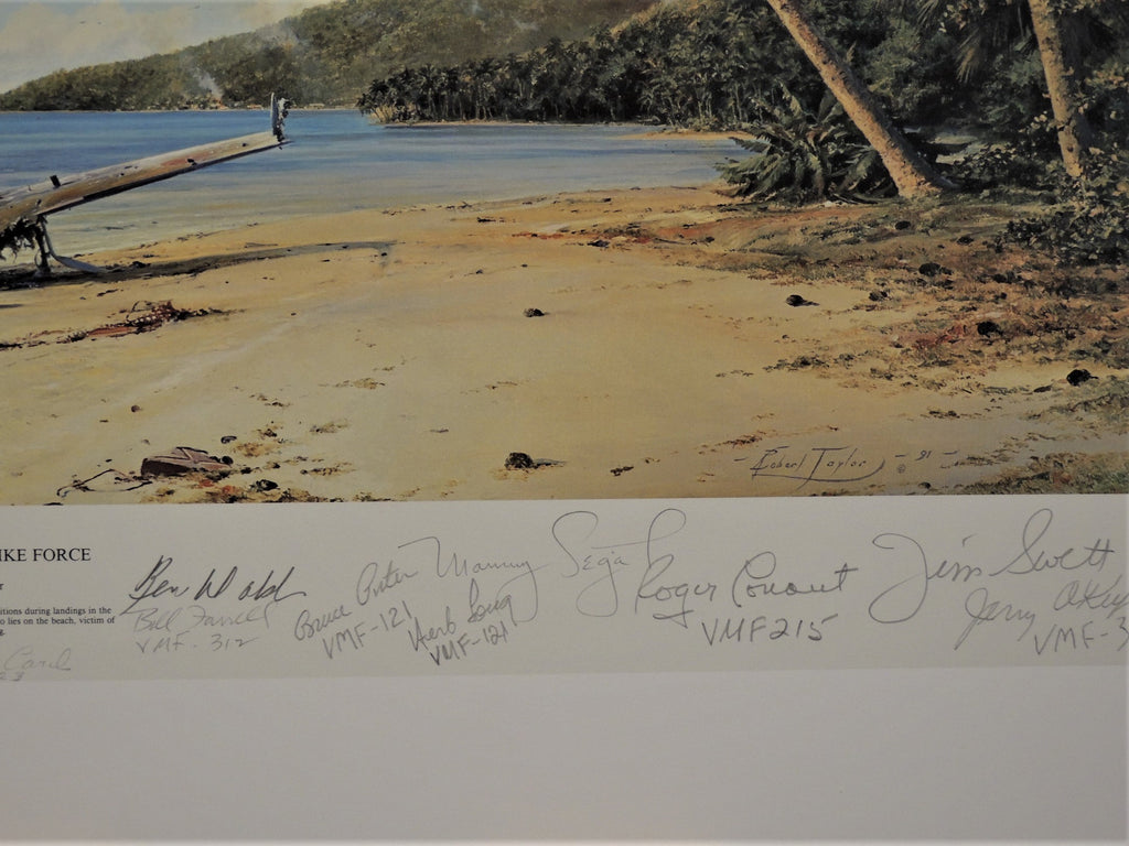 Beach Head Strike Force by Robert Taylor - Multi signed print
