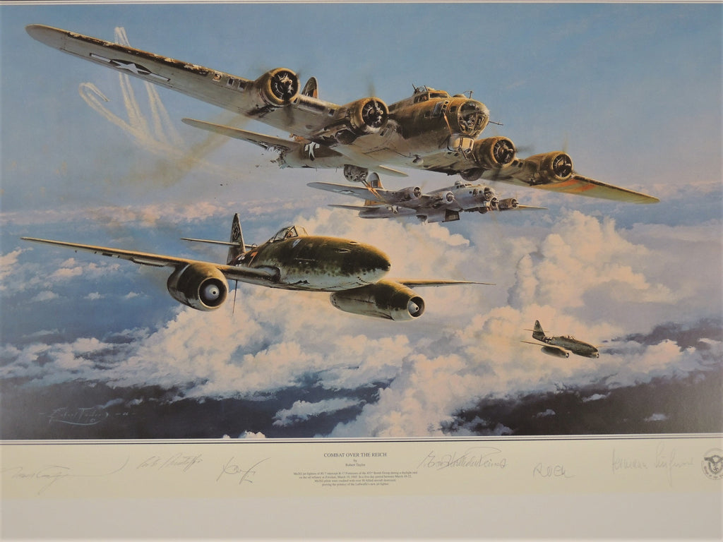 Wings Of The Luftwaffe Collection by Robert Taylor- 4 print set with matching numbers