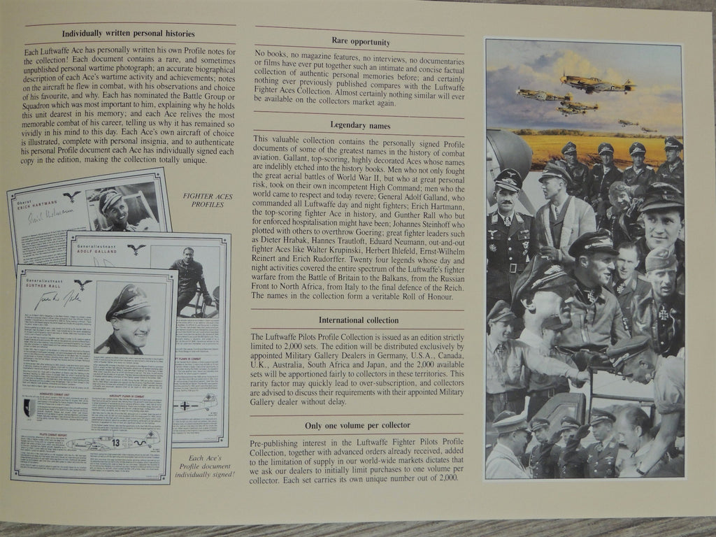 The Luftwaffe Fighter Aces Collection - 24 Singed Profiles of the Top Luftwaffe Aces