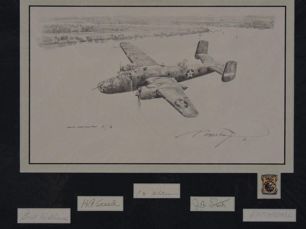 Into The Teeth Of The Wind by Robert Taylor - Doolittle Tribute Edition with original drawing