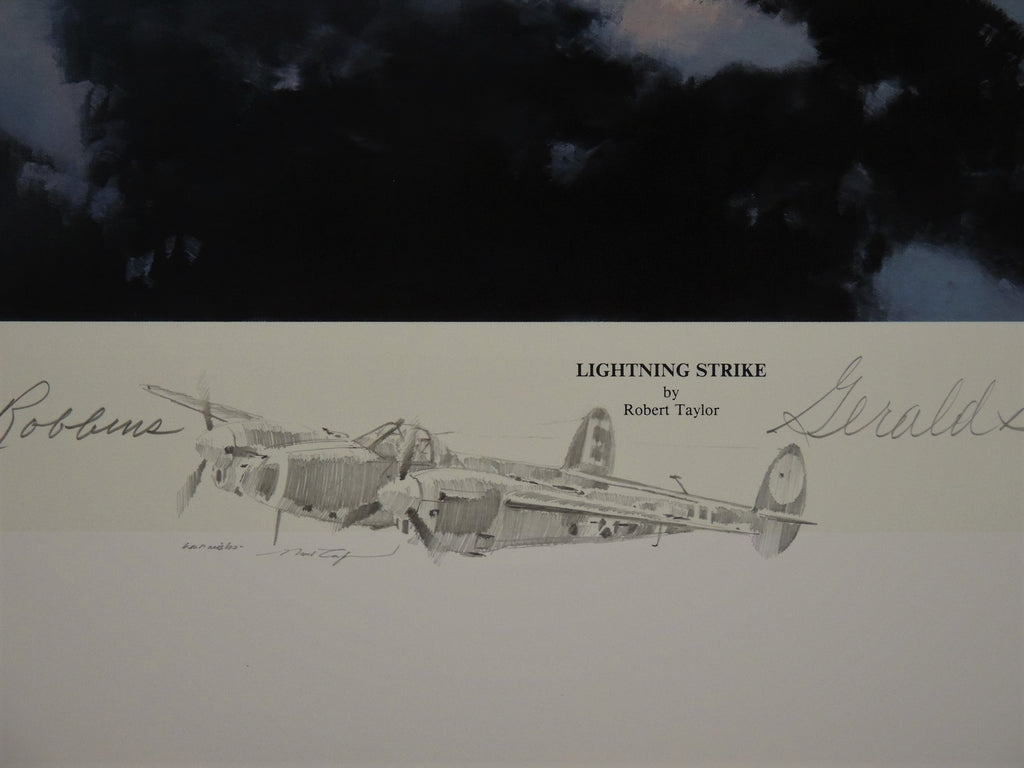 Lightning Strike - remarque by Robert Taylor