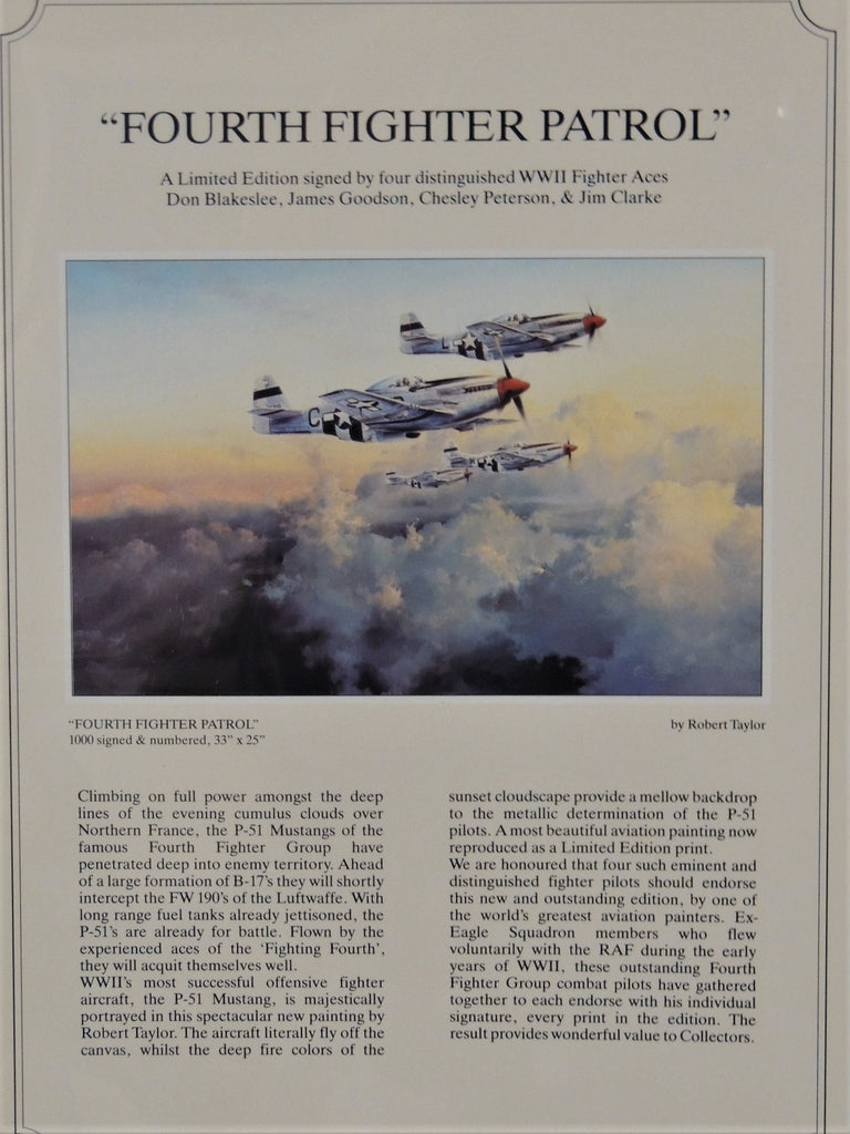 Fourth Fighter Patrol by Robert Taylor - Rare Presentation Copy