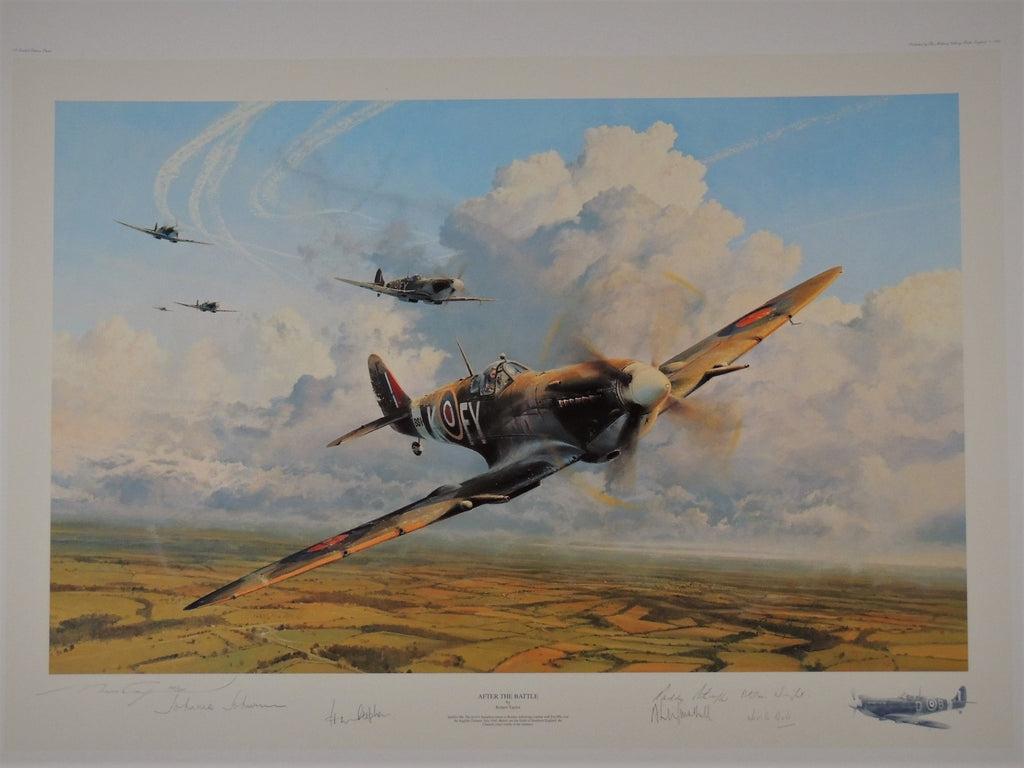 After the Battle by Robert Taylor - The Spitfire Portfolio Edition set