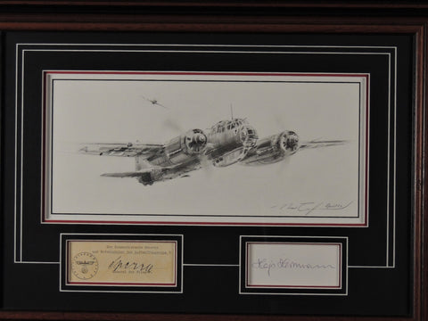 Original pencil drawing by Robert Taylor - Ju88 Battle of Britain