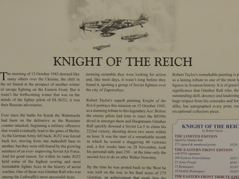 Knights of the Reich by Robert Taylor - Double remarque 3/10