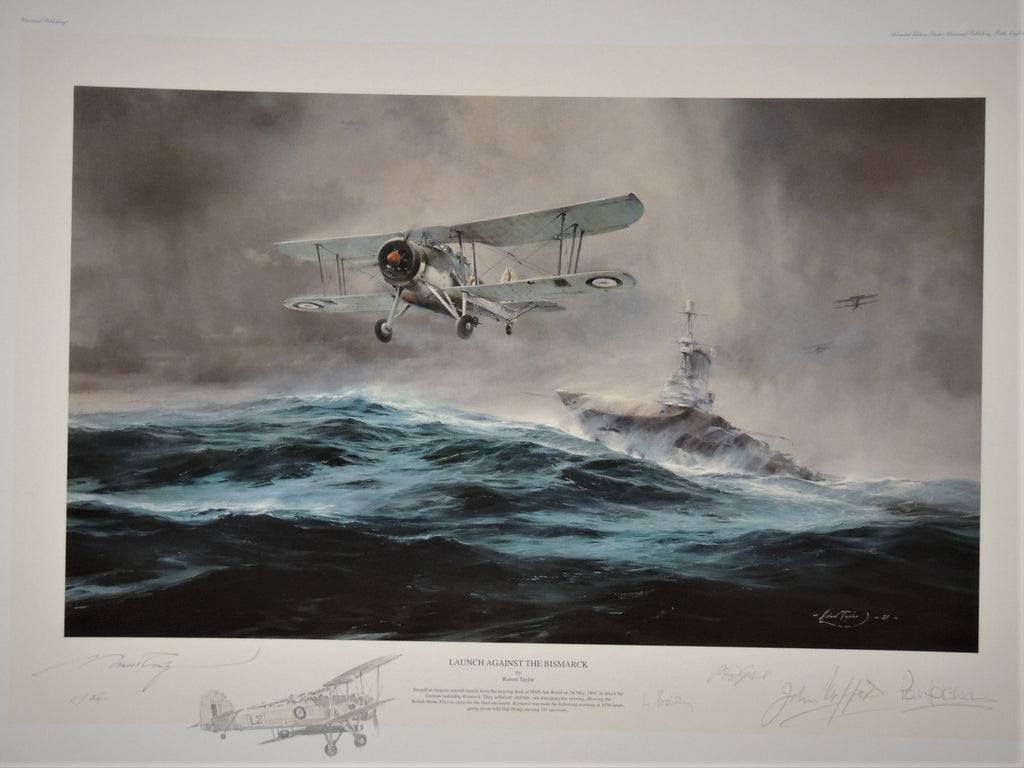 Launch Against Bismarck by Robert Taylor - Remarqued